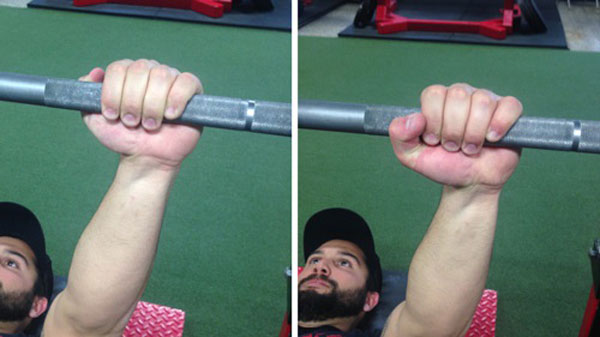 how to take the bar for bench press